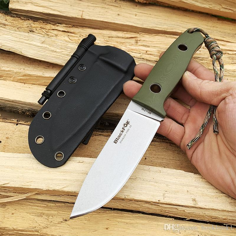 Black Fox ADG Outdoor Tatical hunting knife fixed blade knife D2 blade utility camping survival knife garden hand tool