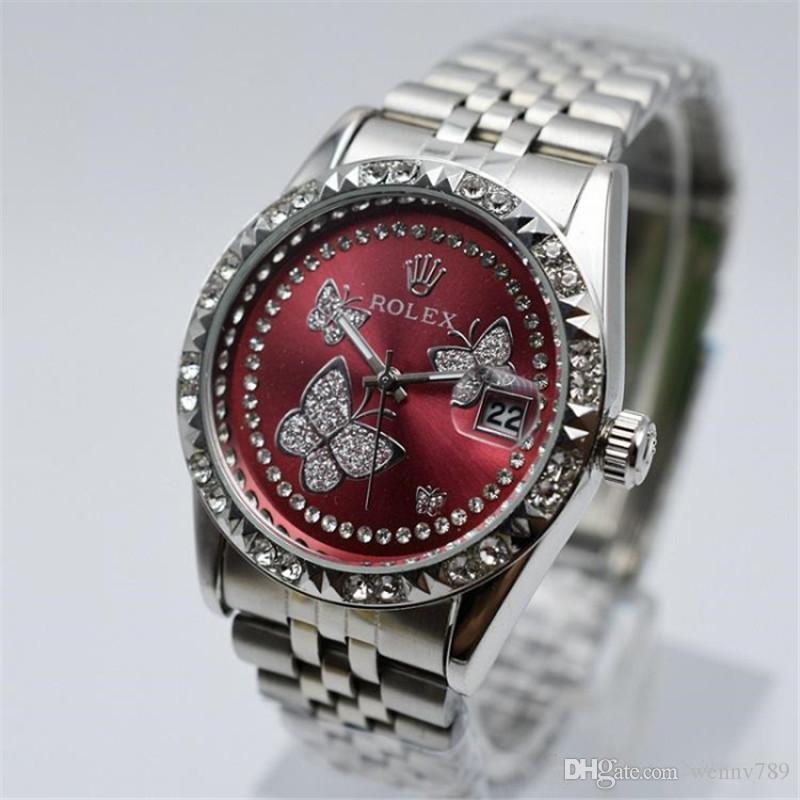 Marca suiza de relojes de lujo Moda a prueba de agua de acero inoxidable relojes para mujer del reloj de cuarzo de oro de negocios ocasional relojes masculin del relogio