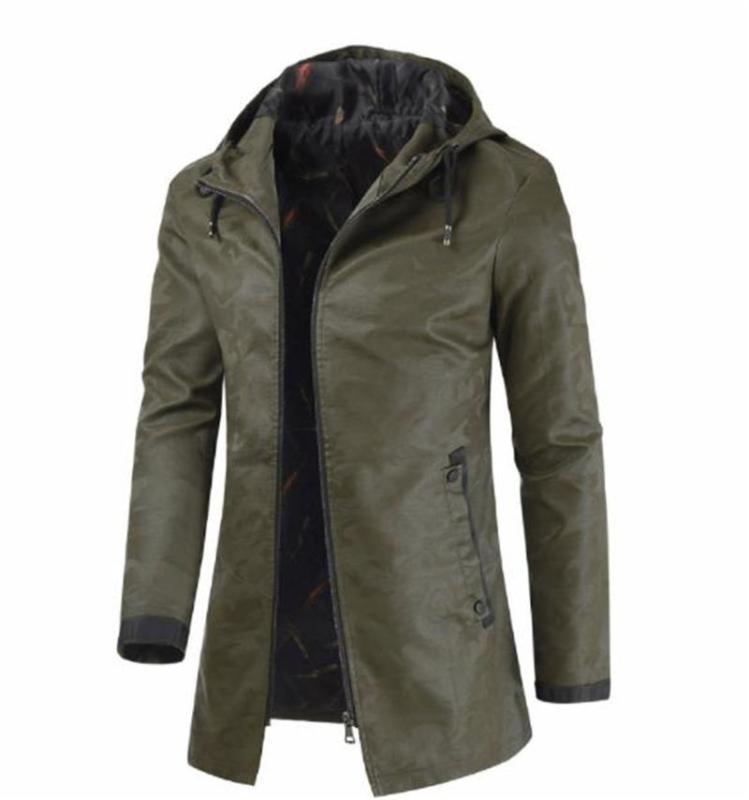 Giacca mimetica Mens lungo cappotto di stile cardigan casual Uomo Abbigliamento con cappuccio da uomo Designer