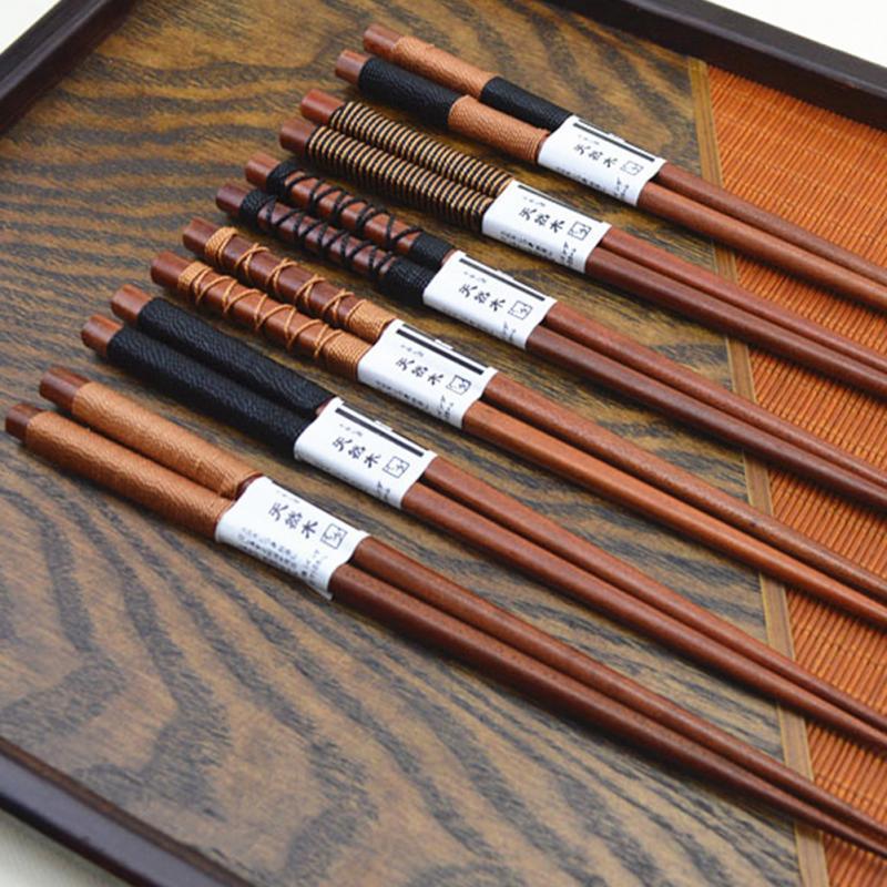 Doğal Kestane Ağaç Chopsticks Tel Doğal Ahşap Chopsticks Drop Shipping Moda Dayanıklı Chopsticks El Yapımı