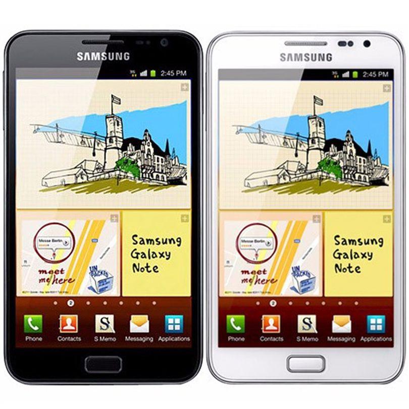 Orijinal Samsung Galaxy Note Yenilenmiş N7000 5.3 inç Çift Çekirdekli 16GB ROM 8MP 3G WCDMA Kilidi Android Ucuz Telefon Ücretsiz DHL Kargo 1PC