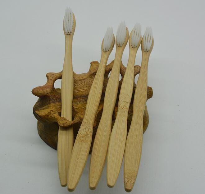 beyaz kıl bambu diş fırçaları, düşük karbonlu yeşil doğal bambu el diş fırçası ile