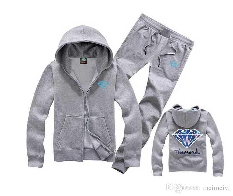 S-5xl d009 frete grátis ternos dos homens novos Casuais de Bolso Com Capuz de Impressão hip-hop hoodies + calça sportswear Fatos