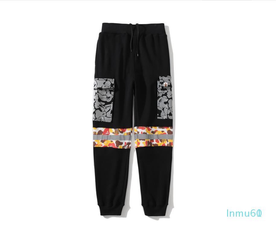 Reflectante otoño hombres del invierno Desierto Camo Terry Causel Sportswear Pantalones amante del deporte Pantalones Pantalones Hip Hop