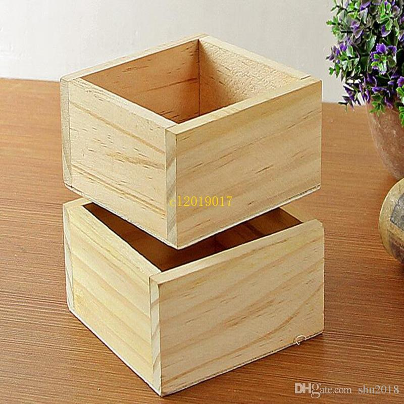 free shipping Wood Box Succulent Planter wooden Flower pot fence planter tray home and shop decorative home Storage Boxes Small Organizer