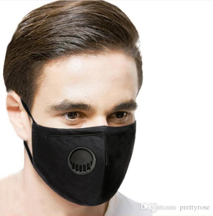 A prueba de polvo para adultos PM2.5 mascarilla de respiración de la válvula máscara máscaras reutilizable lavable anti-polvo Niebla cara con 2 Filtros En Stock!