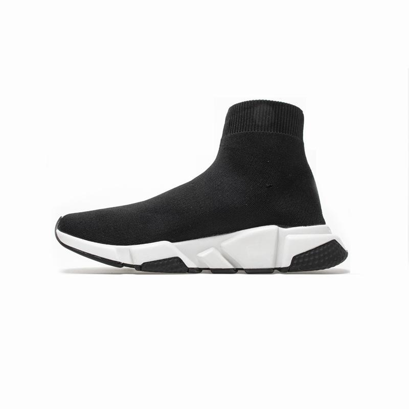 2020 Hot Sale velocidade Trainers Oreo Black White Red Triple Black Men mulheres calçados casuais Moda Plano Sock Sapatilhas