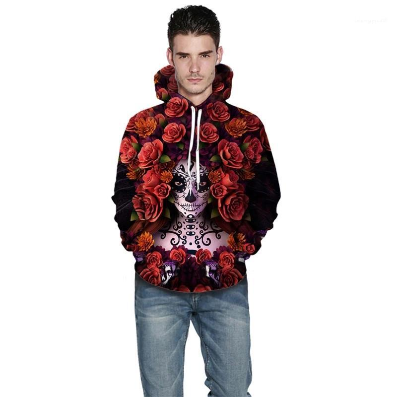 Chaqueta con capucha de manga larga casual para hombre Ropa para hombre de Halloween diseñador con capucha Nuevo Popular de impresión digital 3D