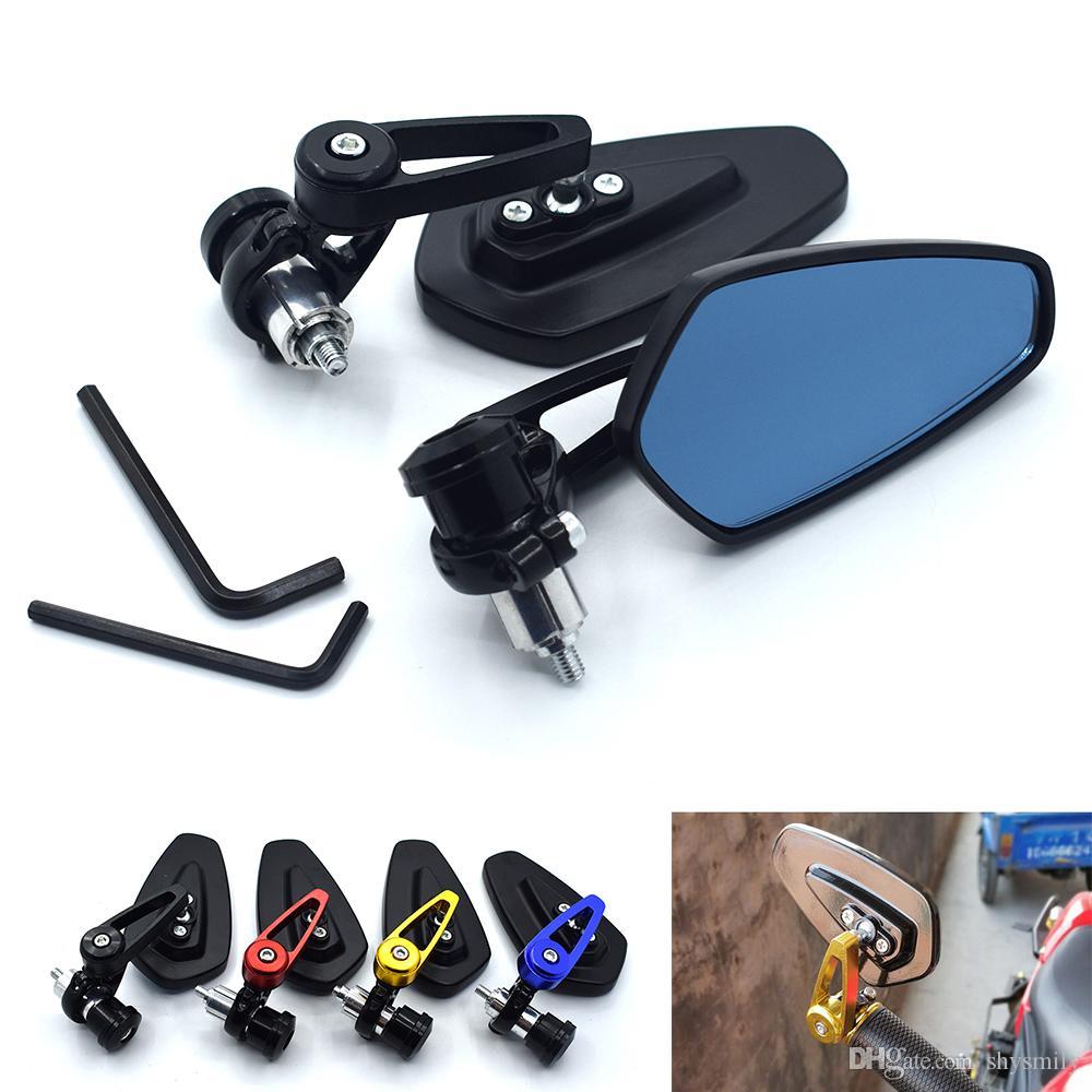 """22mm kolu çubuğu Evrensel Çifti Motosiklet Dikiz Aynası Sap çubuğu Uç Yan Aynalar için Honda CBR250R ABS CB500F / X NC29 """""""" 7/8 İçin"""