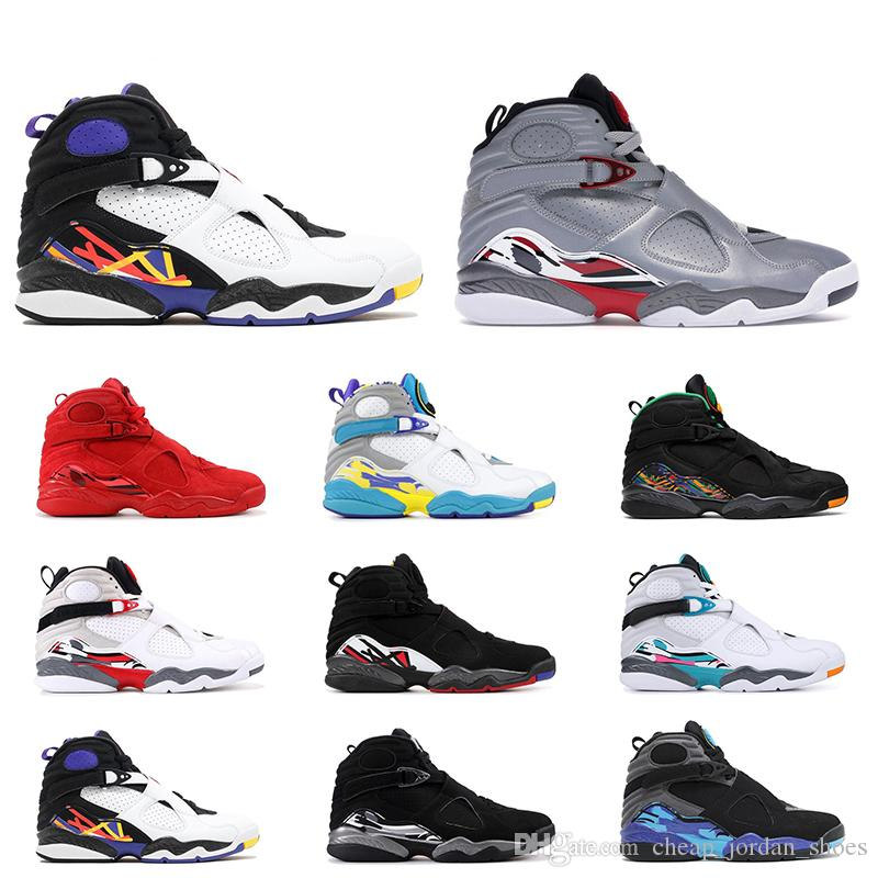 low cost 4d3a1 9e08d 2019 8s Men Basketball Shoes High Top VALENTINES DAY Tinker ...