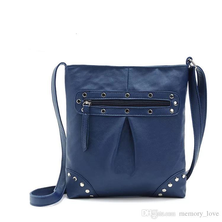 Rivet Messenger Bag High Quality Single Strap PU Leather Shoulder Bag 23*25cm Women Envelope Bag New Arrival