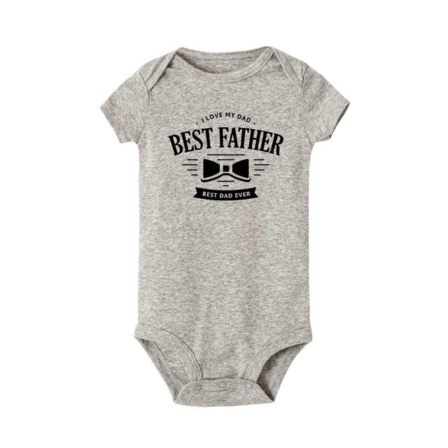 Best Dad Ever Been Newborn Baby Clothes Boy Girl Kids Cotton Cute Funny Body Kawaii Infant Outfits Short Sleeves Baby Onesie