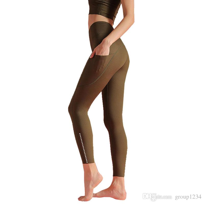 LU-19 اللياقة البدنية ملابس بنات العلامة التجارية تشغيل اللباس رياضي سراويل النساء اليوغا وتتسابق السيدات الرياضية كاملة اللباس الداخلي الضيق اليوغا السراويل عالية quali