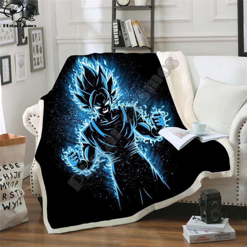أحدث أنيمي 3D مطبوعة شيربا غطاء الأريكة غطاء لحاف الفراش سفر المخرج المخملية القطيفة رمي بطانية الصوف 003