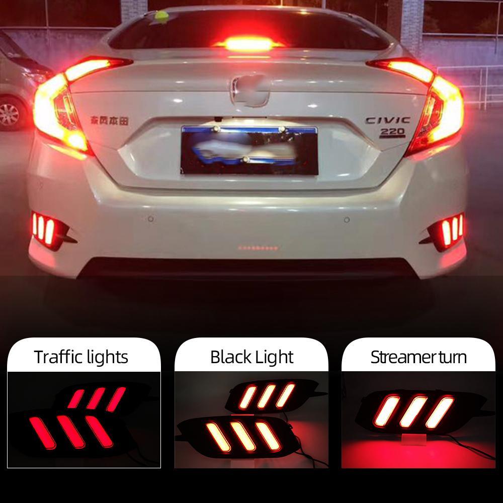 Honda Civic 2016 2017 2018 LED Reflektör stop lambası Fren ikaz lambası Arka Sis Lambası Arka Tampon Işık İçin