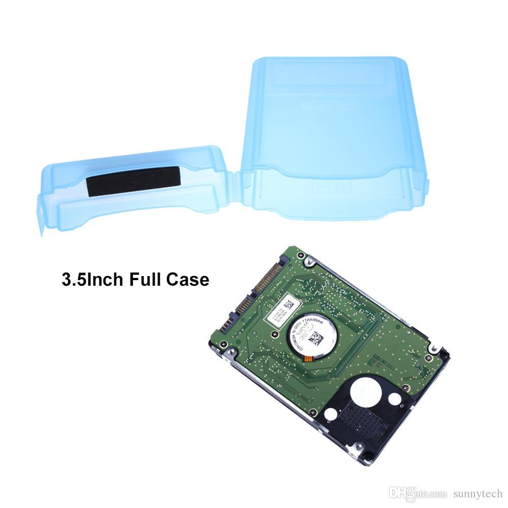 علبة تخزين بلاستيكية صلبة للحماية الكاملة علبة تخزين على القرص الصلب لمدة 3.5 بوصة IDE SATA IDE SATA Hard Drive LX1842