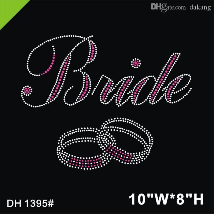 Freies verschiffen Braut Ringe Strass Motiv Hotfix Strass Design DIY DH1395 #