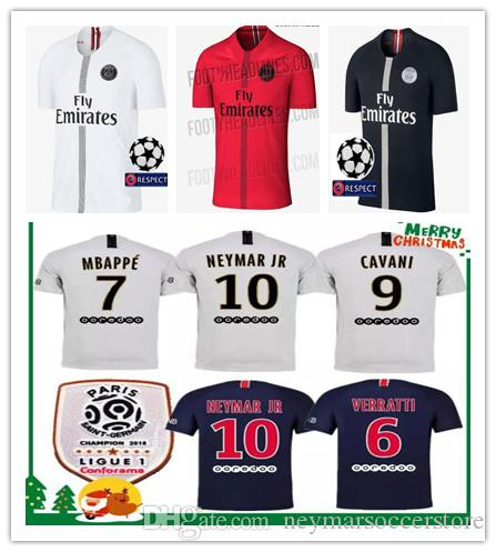 2018 2019 psg champions jumpman soccer jerseys 18 19 Paris CAVANI football shirts MBAPPE maillot de foot