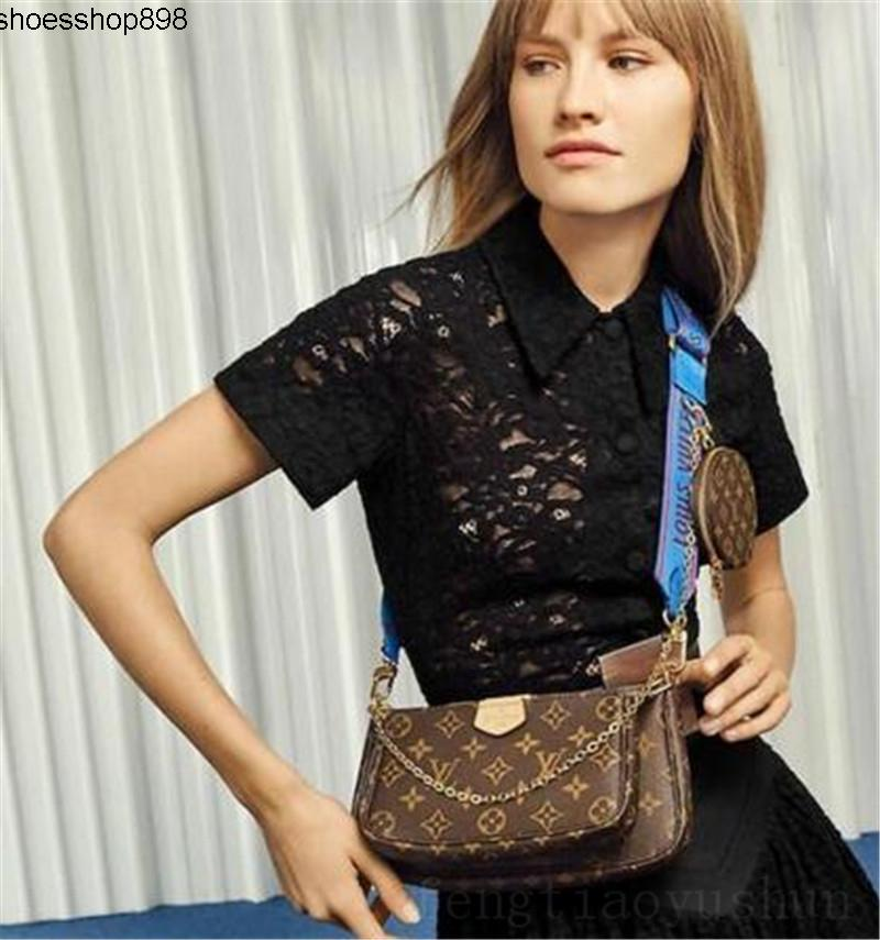 T0XV Verkauf 3-teiliges Set Designer Taschen Frauen Crossbody Beutel-echten Leder-Luxus-Handtaschen Portemonnaie Designer Lady Taschen Geldbörse Drei