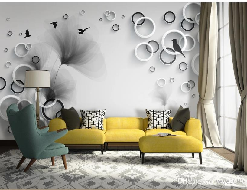 Custom 3d Wall Murals Wallpaper Wall Painting Stereoscopic Simple Abstract Dream Flower Bird Sofa 3d Living Room Tv Backdrop Mural Wallpaper Changer Wallpaper Computer From Yeye2000 39 18 Dhgate Com