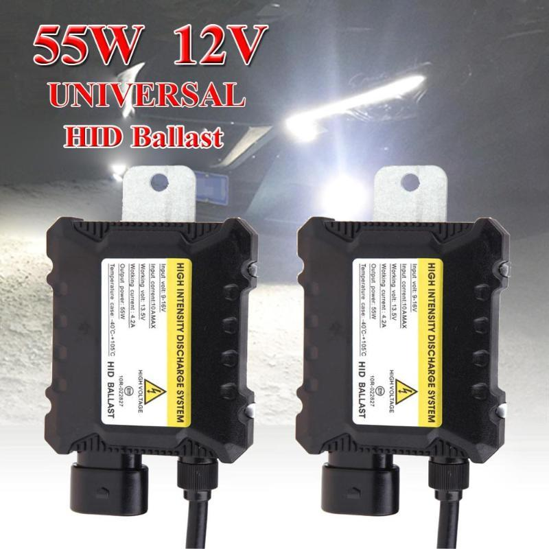 2pcs Digital 55W Slim HID Replacement Light Ballast Xenon Conversion Kit for HID H1 H3 H4 H7 H8 H9 H10 H11 H13 9005 9006 9007