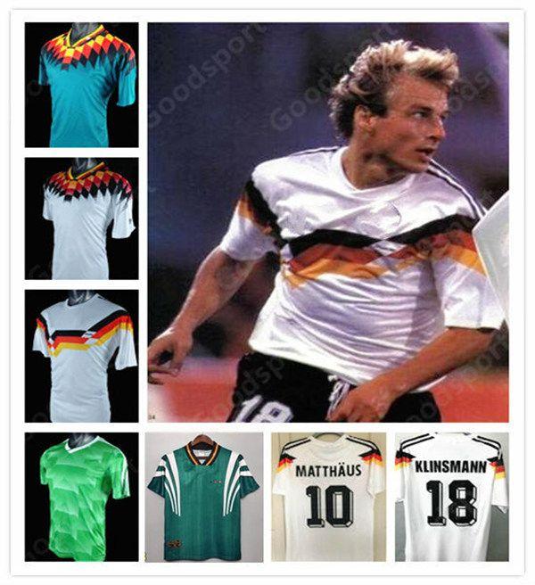 88 90 96 94 14 04 92 Germania Retro Jersey di calcio Klinsmann Matthaus Mueller Muller Effenberg Ozier Kahn Deutschland Ballack Ballack Klose
