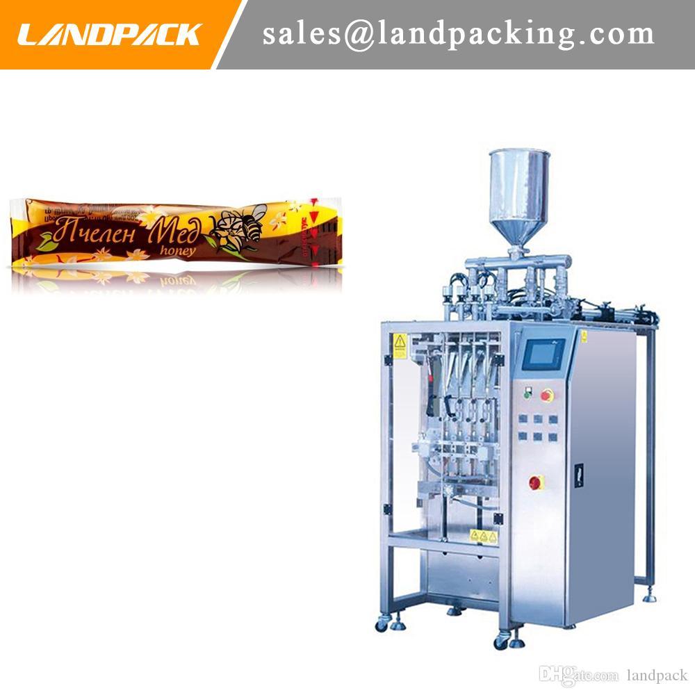 varios carriles fabricantes de máquinas de embalaje multifunción miel máquina automática de bolsa de tubo de líquido de la tira miel
