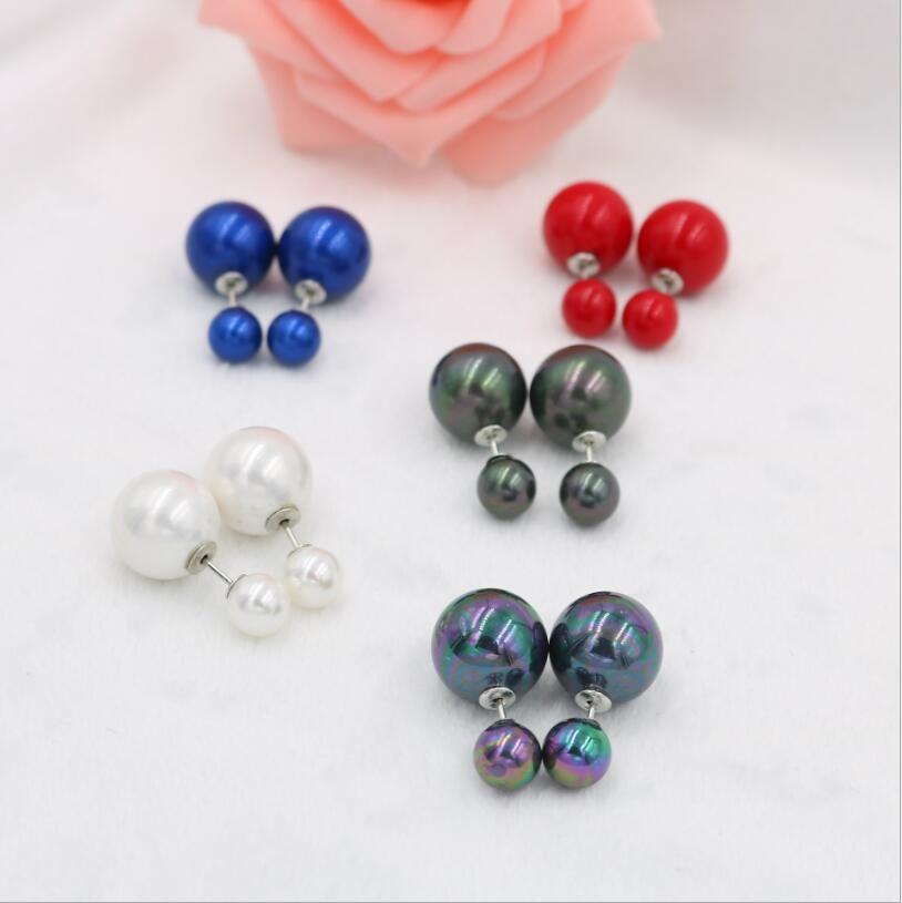 Orecchini, conchiglia e retro nuovo 1009 +++ Temperamento per perle perla, KJFOG naturale
