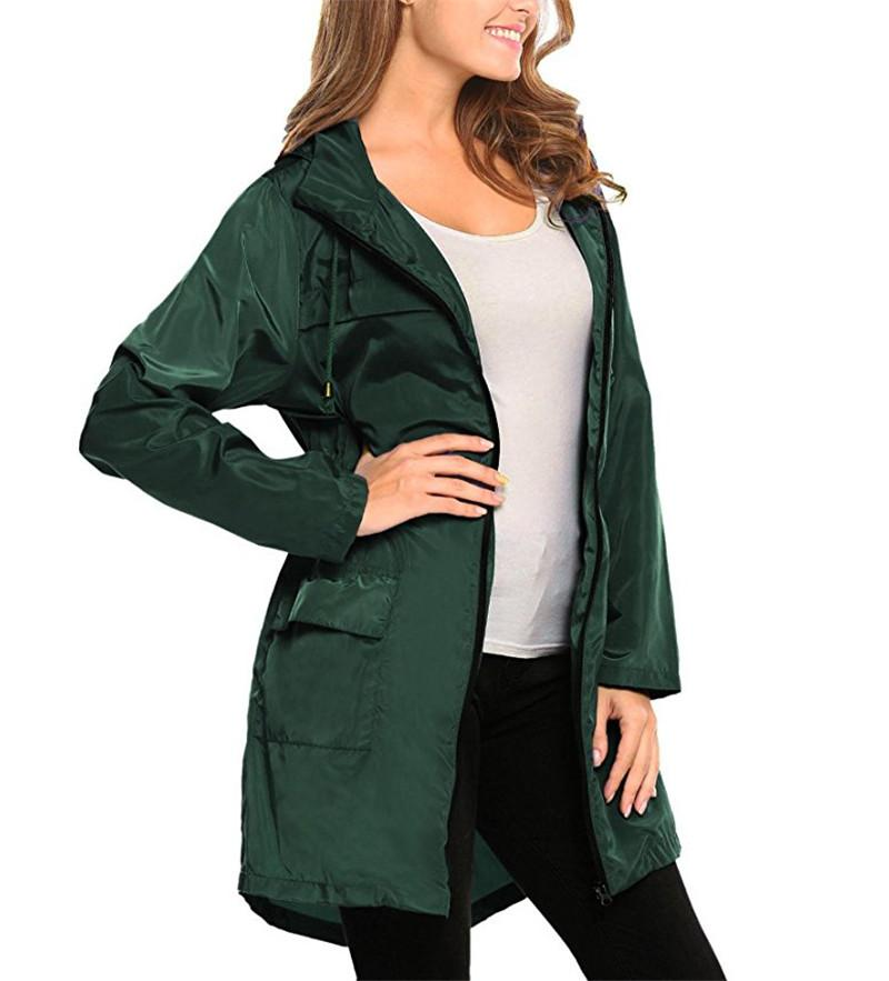 Womens Designer Trench Coats Fashion Solid With Zipper And Pocket Womens Jacket Designer Woman Cloth