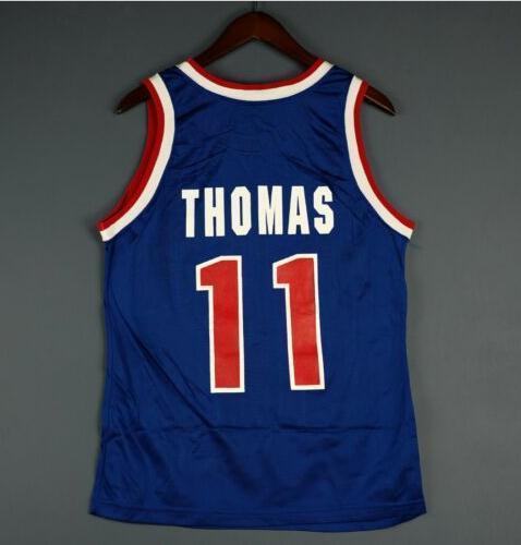 las mujeres de Hombres jóvenes Isiah Thomas College de baloncesto de la vendimia de la vendimia Jersey talla S-4XL o costumbre cualquier nombre o el número del jersey