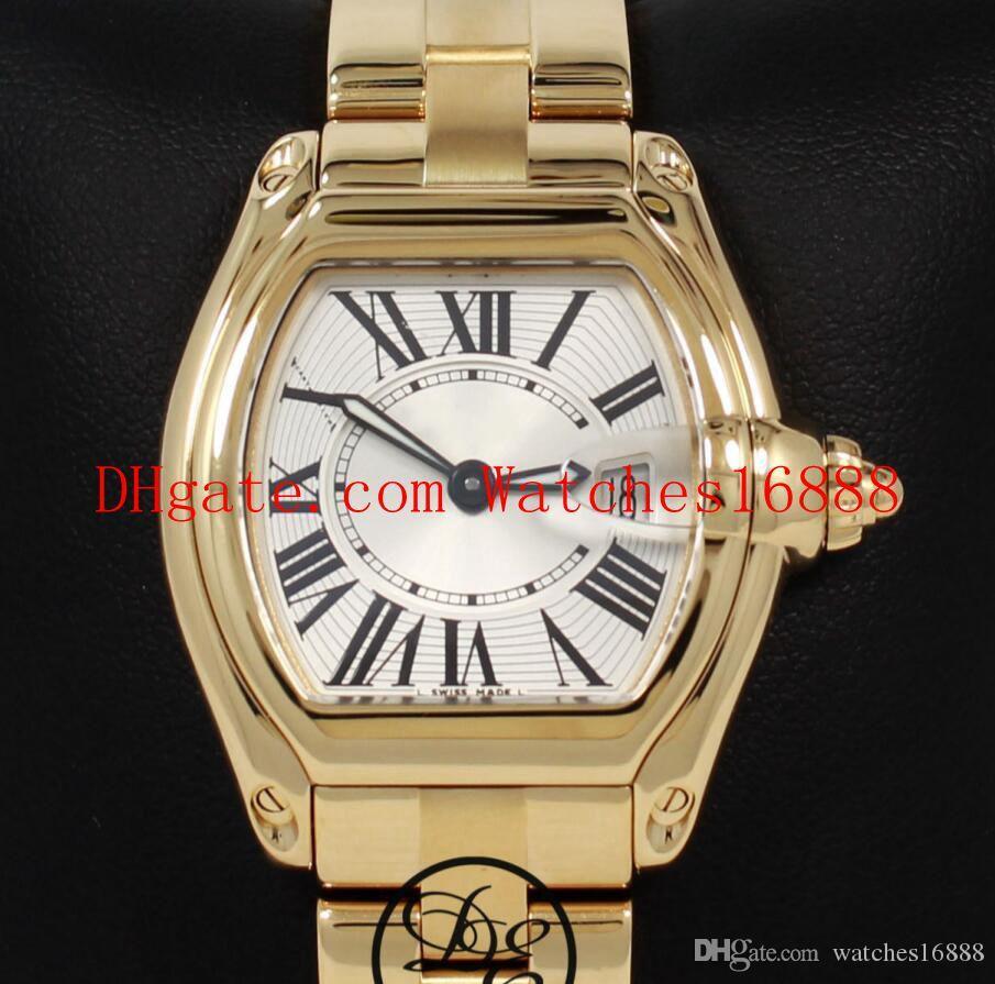 Лучшие качества Дамы кварцевые часы w62018v1 2676 18K желтого золота Серебряный набор Женская мода Wathces