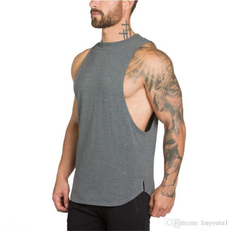 Ropa de gimnasios Culturismo Camiseta sin mangas Hombres Gimnasio Singlet Sin mangas Camisa Algodón Muscular Camiseta para niño Chaleco