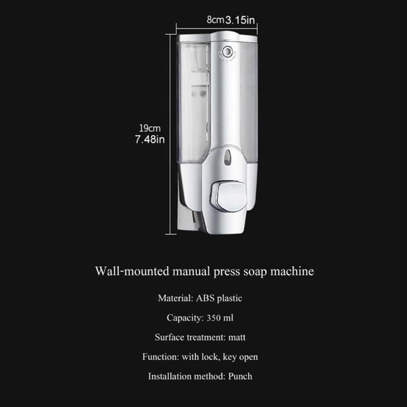 350ml sapone liquido con montaggio a parete singola soffione doccia bagno di lavaggio lozione manuale Sapone Shampoo Dispenser per l'hotel domestico
