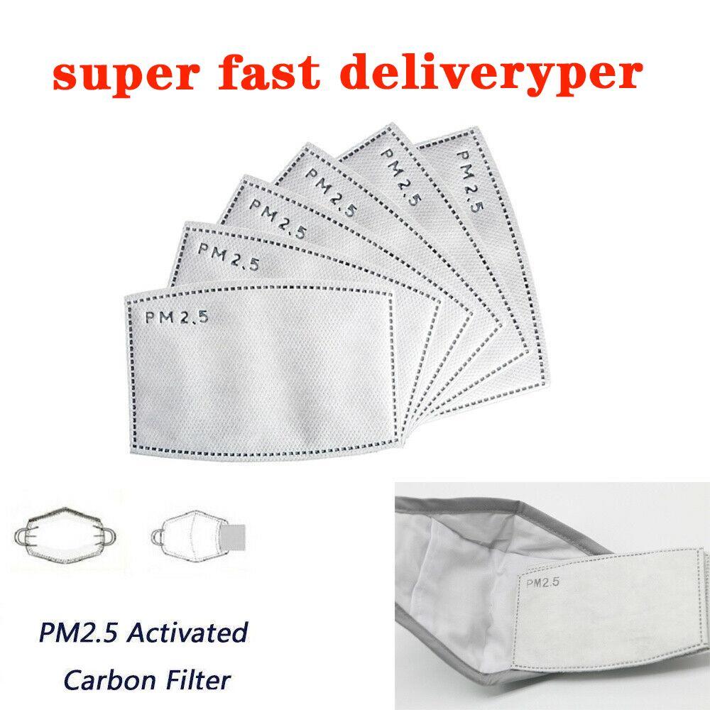 Le spot PM2,5 remplacement des plaquettes de masque à usage unique Filtres de remplacement Masque Joint respirant Pad Anti-Haze poussière Sper Livraison rapide en 3-5 jours