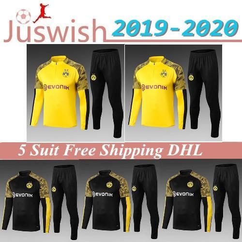 Acquista 2019/2020 Borussia Dortmund Tuta Giacca Corredo Dellinsieme Di Uomini Formazione A Maniche Lunghe Suit 2019 2020 Borussia Dortmund ...