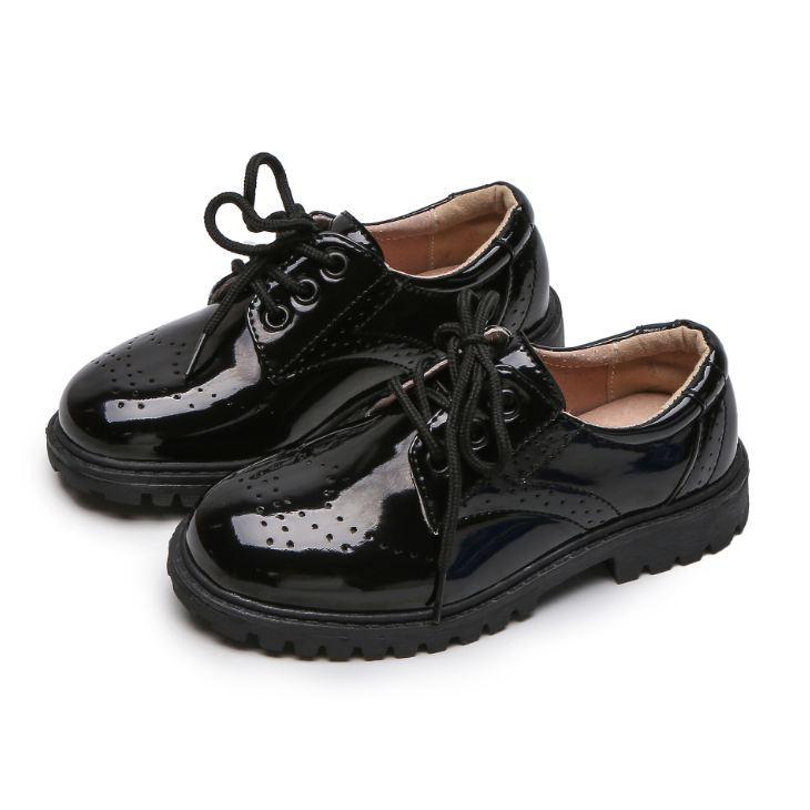 кожаные ботинки удивительным детей вскользь милые маленькие дети тренеры дышащий весна осень Детская обувь для нового года Drop Доставка