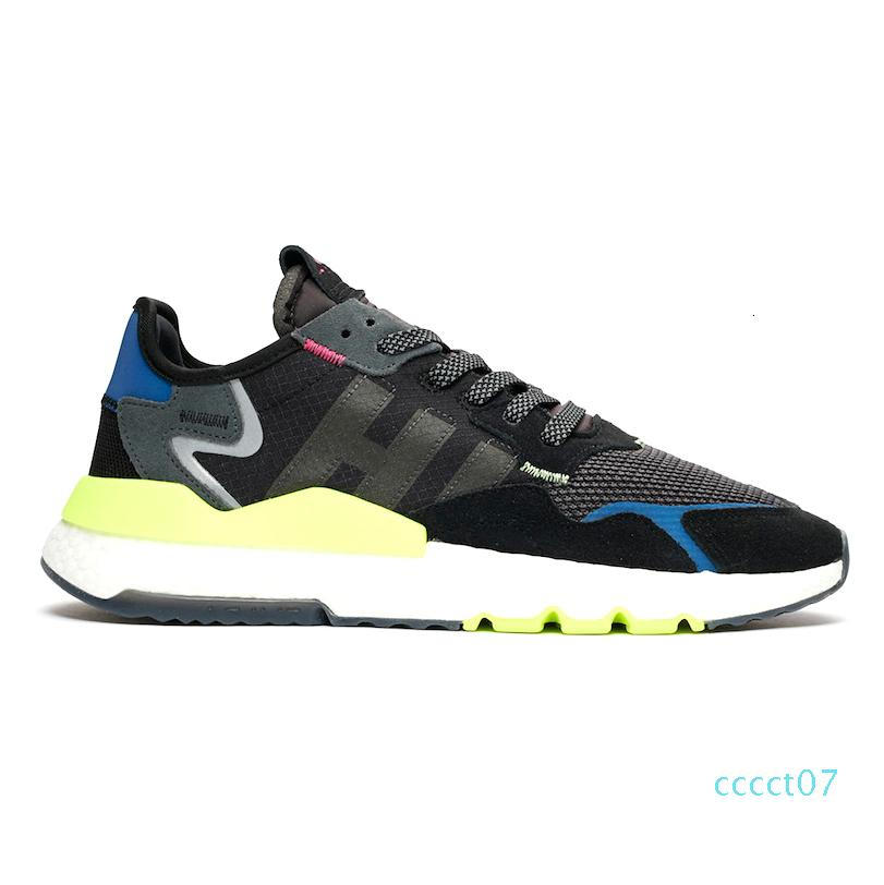 2019 Nite Jogger 3M Reflective Running Shoes Beige triple White Black ICE MINT TRACE PINK Women Mens Trainer Sports Sneakers 36-45 ct7