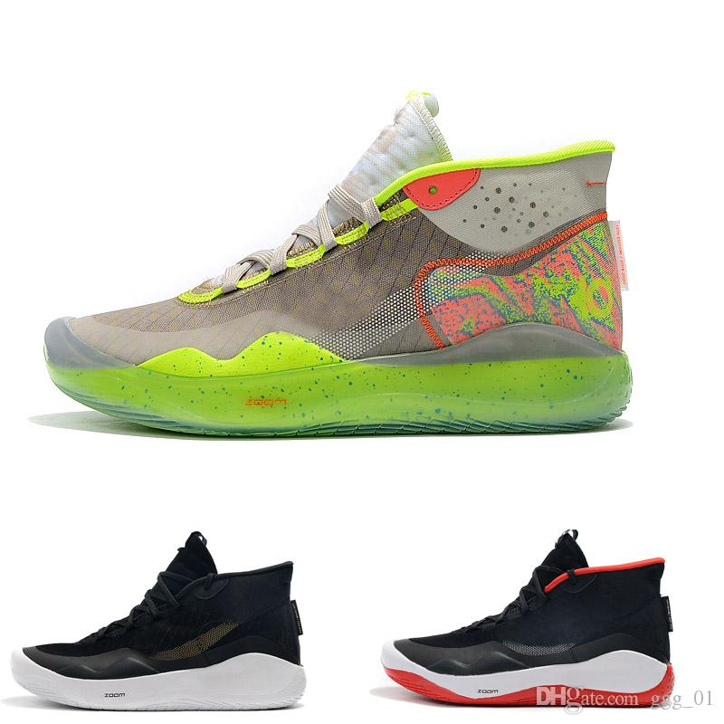 2019 ZOOM KD Kevin Durant 12 XII Cant Jump Dub Nation 90S KID Colorway Elite for Mens Basketball Shoes حذاء رياضي رياضي