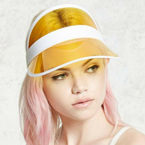 Fasion Summer PVC Hat Sun Visor Party Casual Hat Clear Plastic Adult Sunscreen Cap
