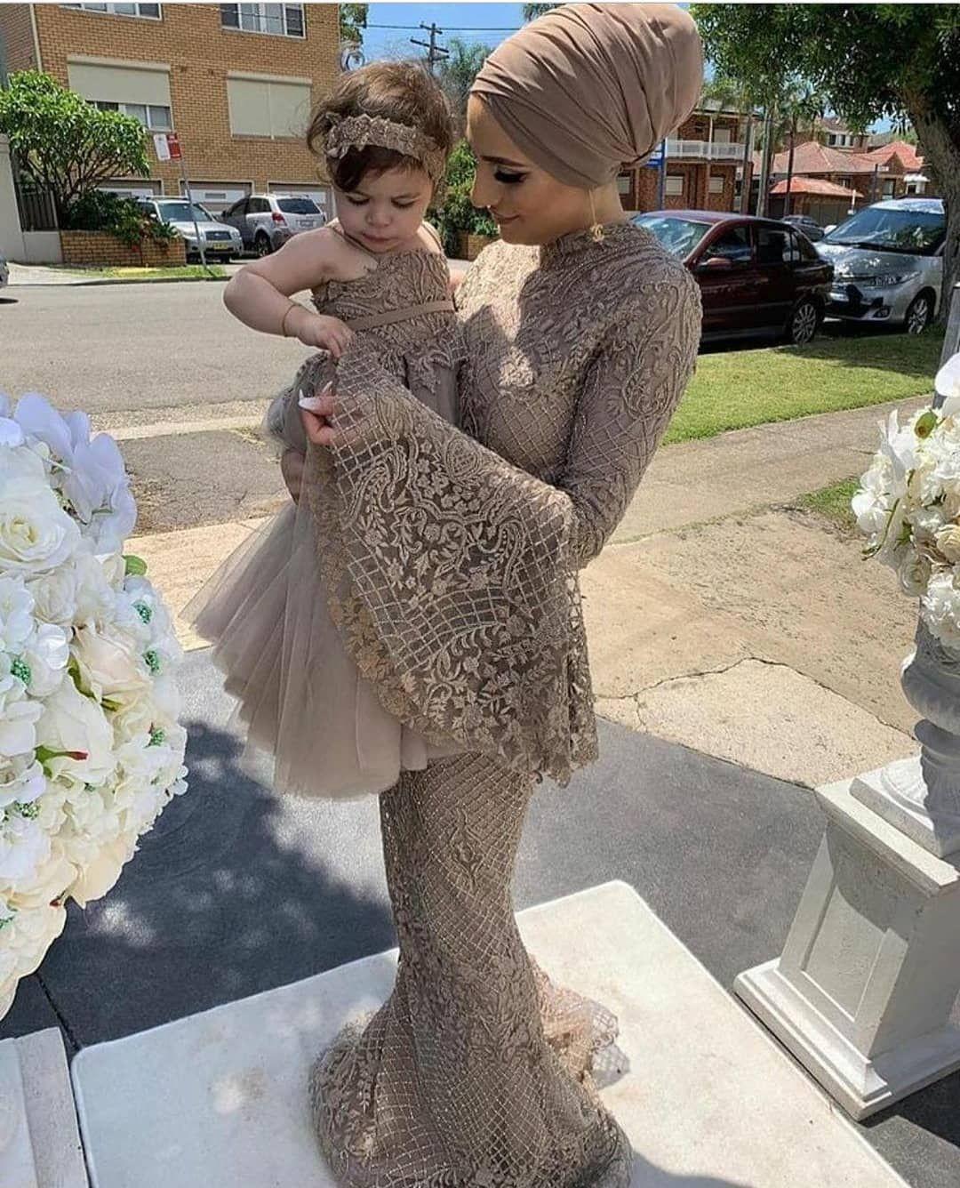 2020 Arabisch Aso Ebi Mulsim Goldspitze reizvolle Abend-Kleider mit langen Ärmeln wulstigen Abschlussball-Kleid-Nixe-formalen Partei-Zweiten Empfang Kleider ZJ541