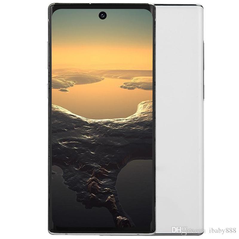 """3G WCDMA Goophone N10 + 페이스 ID 1기가바이트 4기가바이트 + 32기가바이트 쿼드 코어 MTK6580 안드로이드 9.0 6.8 """"펀치 홀 전체 화면 3 후면 카메라 지문 스마트 폰"""