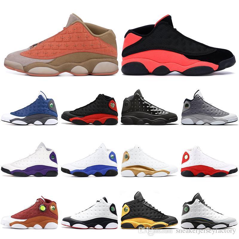Hot vente 13 13s Chaussures de basket-ball Lakers chapeau et robe gris Atmosphère Clot Sépia Pierre Flint Chicago Altitude entraîneurs des hommes Sneakers
