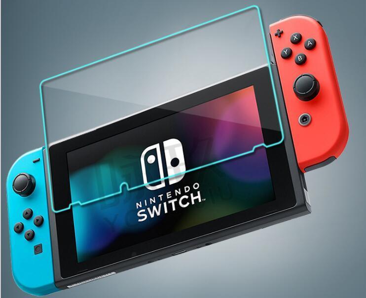 Pellicola proteggi schermo in vetro temperato di qualità per Nintendo Switch 9H 2.5D 0.3mm antigraffio HD antigraffio pacchetto pellicola BFM015