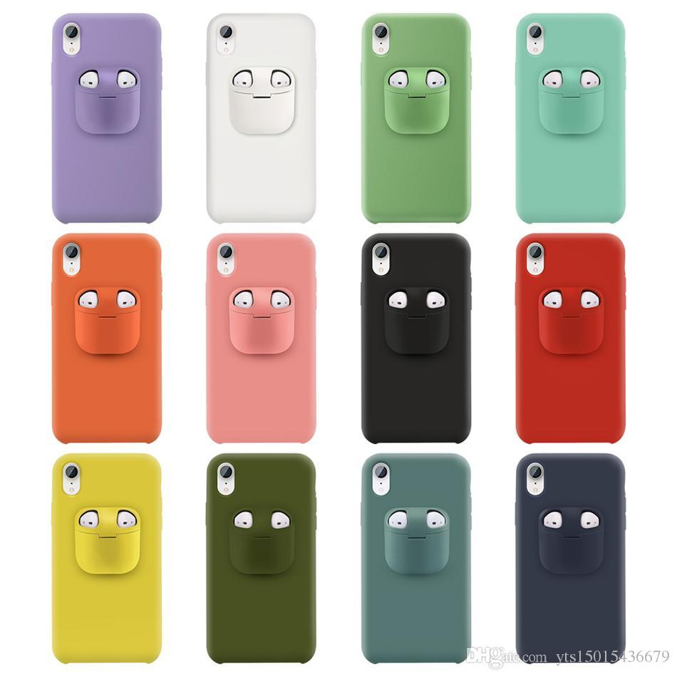 Cell Phone Cases For Airpods 1 2 Case 2 In 1 Wireless Headset Set