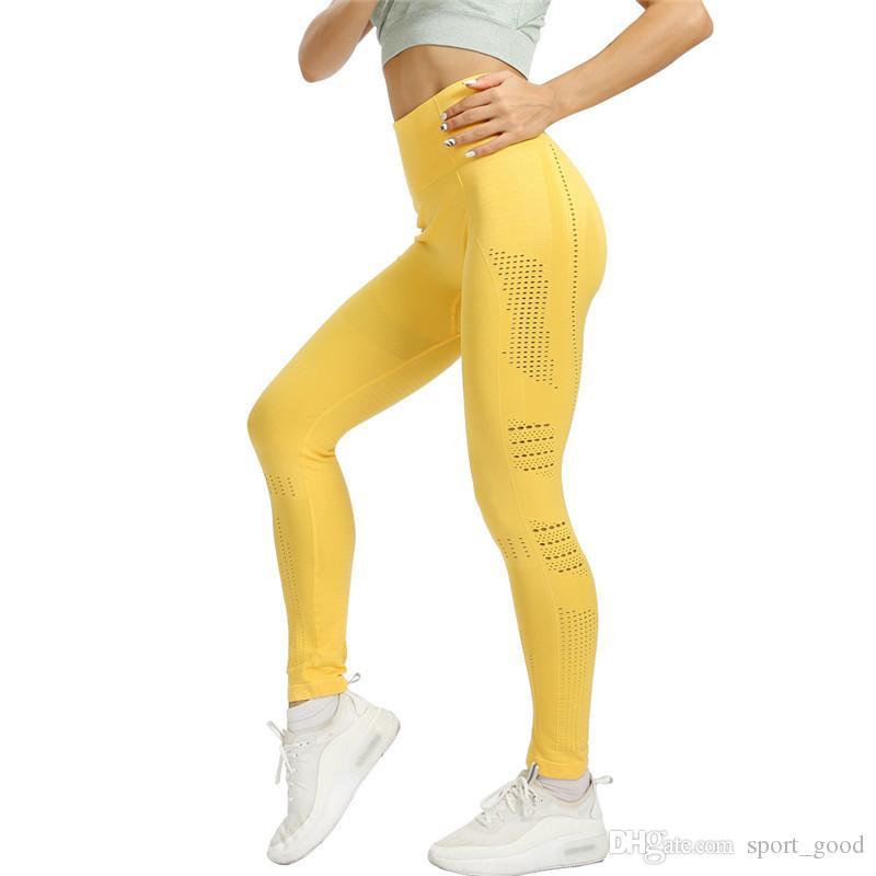 Nova chegada mulheres perfeitas calças de yoga senhoras sem costura leggings ao ar livre fêmea calça esporte elástico da roupa do exercício