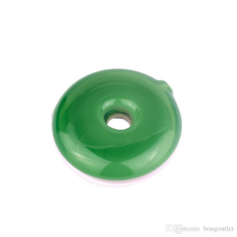 Fabrik Direktverkäufe Einfache Saubere Donuts Rohre Grün Rosa Farbe Rauchrauch Handleitung kann angepasst werden