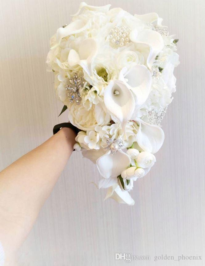 Bouquet A Goccia Sposa.Acquista 2019 Bouquet Da Sposa Di Alta Qualita Su Misura Goccia