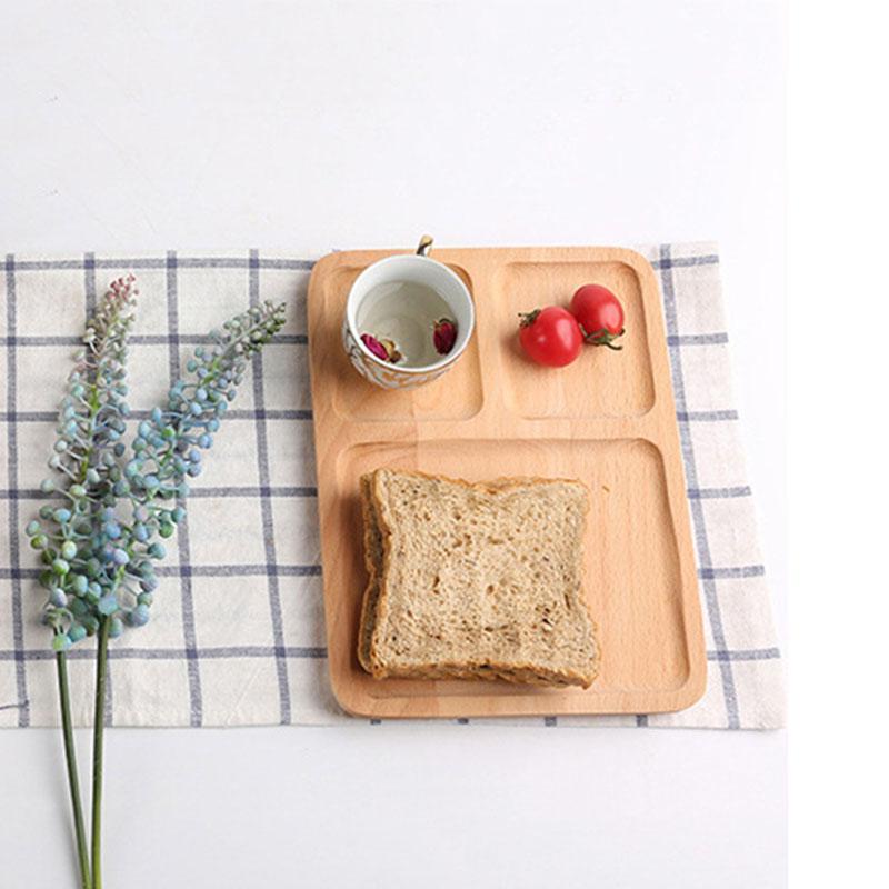 Продукты питания плиты из натурального дерева ретро Мульти Размер Прямоугольник Пицца Печенье Лотки Фруктовый чай Кофе Планшеты Завтрак Хлеб Молоко Лотки VF1602