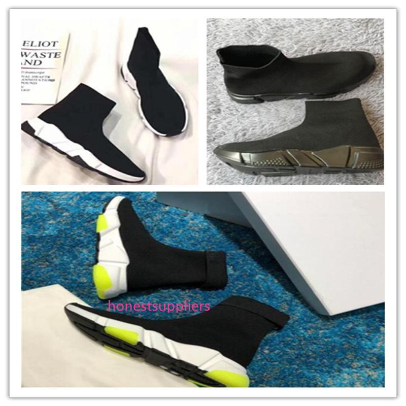 alta qualità nuova velocità calza scarpe Speed Trainer per uomini e donne scarpe scarpe velocità di stiro-maglia Mid scarpe da ginnastica dimensione Eur 36-47