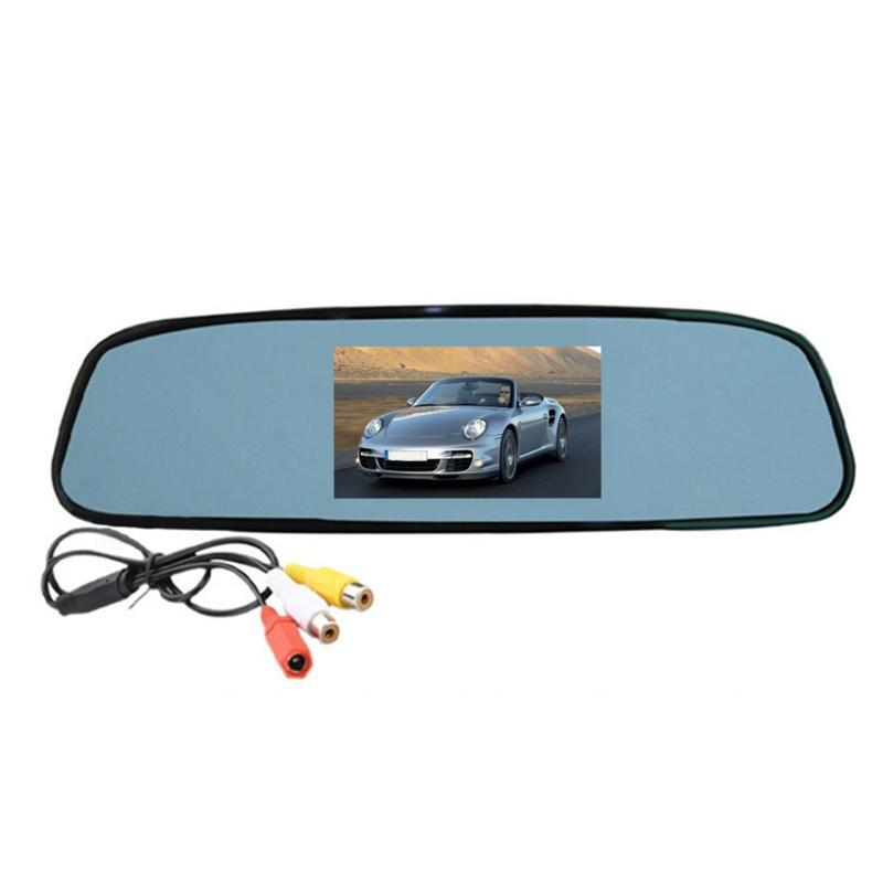 Güvenlik Araç Monitör Dikiz Aynası LCD Ekran Dijital HD Video Ters Güvenli Sürüş Yedekleme Dayanıklı Otomatik Park Profesyonel